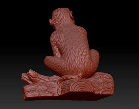 Monkey India jungle animal statue 3D print model