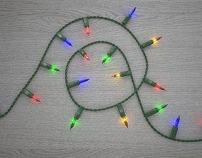 3D model Strings Christmas Light V4