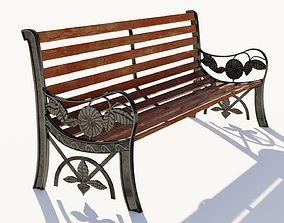 3D asset Outdoor Park Bench