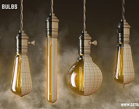 Vintage Edisson Light bulbs collection 3D model