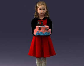 3D Girl with cake 0313