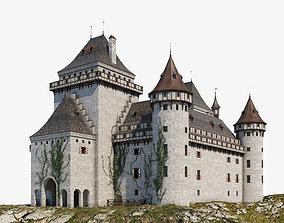 3D model cave Castle