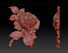 3D model flower rose sculpture