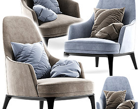 Poliform Jane Lounge Armchair Heigh 3D
