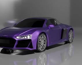 3D PBR Audi R8 V10 Spyder Quattro 2019
