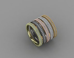 3D print model new trend gold and silver rings