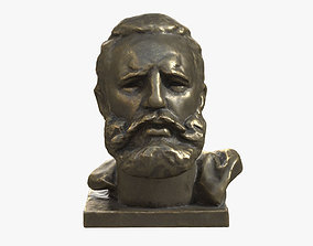 Fidel Castro Bronze Bust 3D asset