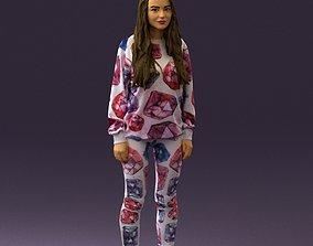 Woman in white diamonds pijama 0438 3D Print