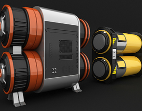 sci fi oil tanks free models container 3D
