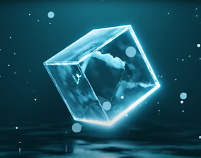 3D model Easy Satisfying Default Cube Animation