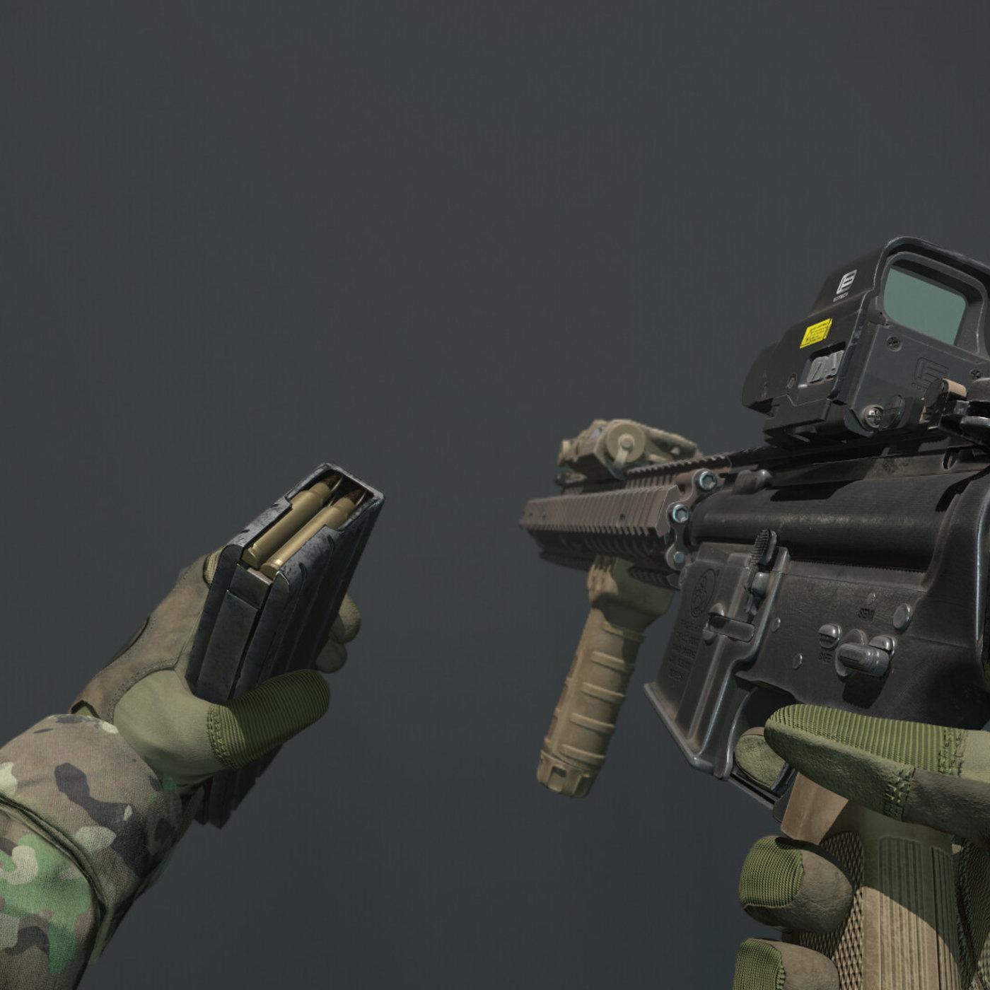Heavy Assault Rifle and Assault rifle M4A1