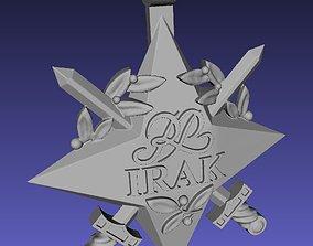 Official Irak polish star decoration 3D print model