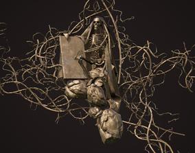 3D asset Skeleton sculpture Kit bash wines