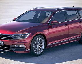 Volkswagen Passat Variant R-line 2018 3D model