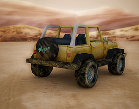 3D asset Low Poly Jeep