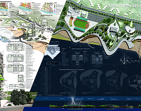 3D model The central park of culture and leisure