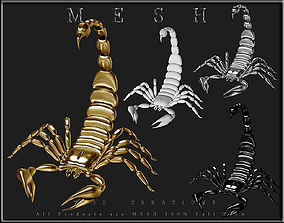 3D model game-ready Scorpion