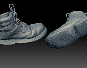 Boot Steel Toe Construction Heavily worn 3D