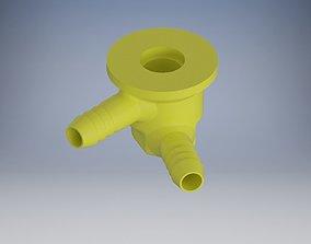 Housing for the idle valve horizontal 3D printable model 1