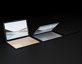 3D asset Microsoft Surface Laptop 4 in All Metallic Colors