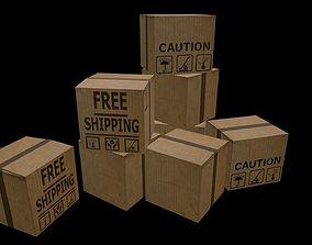 Boxes 3D model realtime
