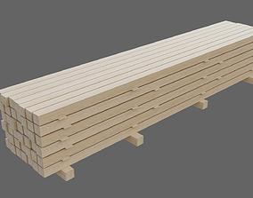 board Wooden beams 3D