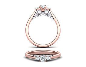 Bow Three Stone Engagement ring printable