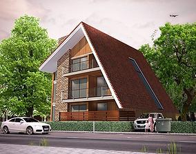 3D model swiss style residental building