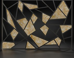 decorative wall panel 3D asset