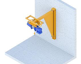 Industrial lift - Spacer crane Renaissance 3D model