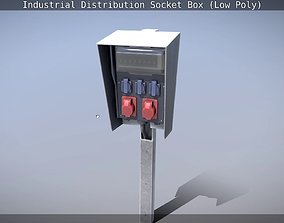 Industrial Distribution Socket Box 3D asset