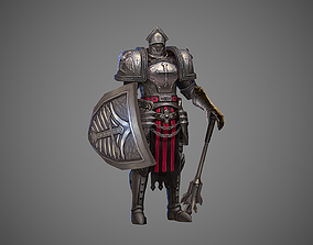 3D model Knight Templar Metal Armor