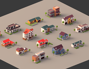 3D model Low poly Mega House pack