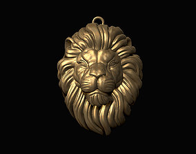 Lion Head Pendant 3D print model jewelry