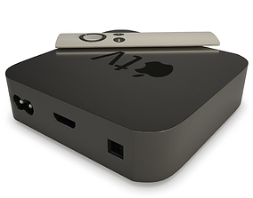 3D Box Tv Apple and remote Control
