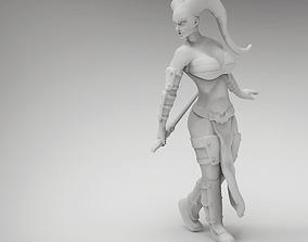 legion Tattoo Female Space Warrior 3D printable model