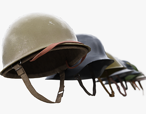 8 Helmets Collection UE4 and Unity 3D model