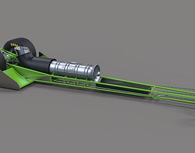 3D Front engine jet dragster