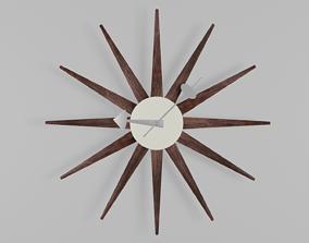 3D model Sunburst clock