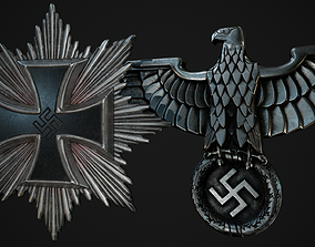 3D asset Nazi Germany Badges