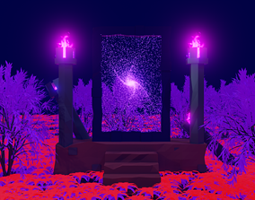 Low poly Portal 3D model