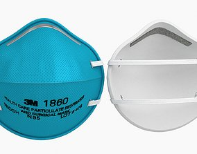 3D model VR / AR ready Surgical Mask