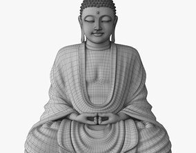 Sitting Buddha without textures NOT FOR 3D PRINTING