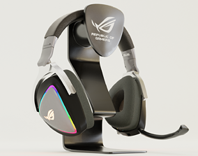 Delta Rog Headphone And Stand 3D model