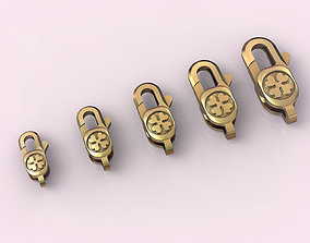 Locks for jewelry chains and bracelets 006 3D print model
