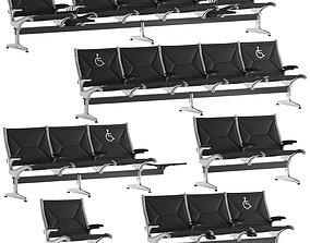 3D Herman Miller Eames Tandem Sling Seating
