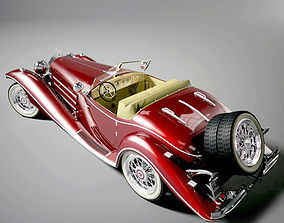 Mercedes-Benz 500K Roadster 3D