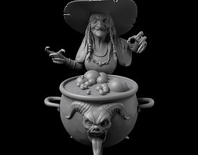 Witch 3D print model