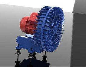 3D model Compressor radial bomba de vacuo