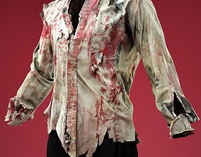 3D model Bloody Ripped Shirt Costume